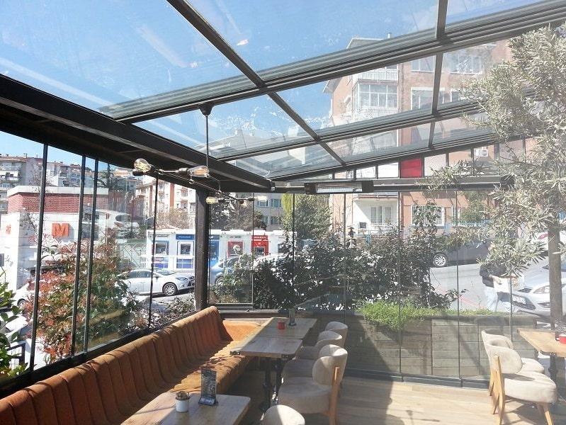 Cam tavanlı kış bahçesi İzmir