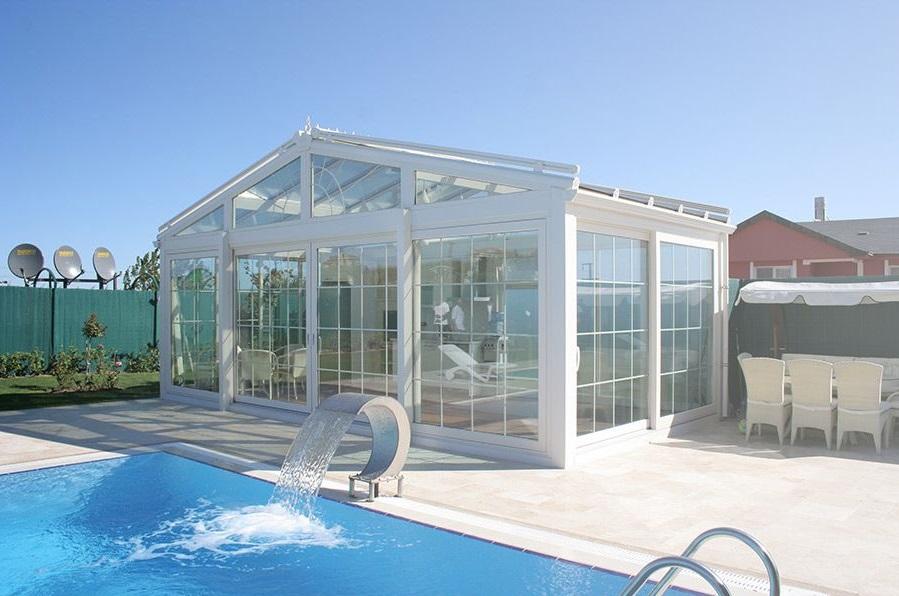 havuz başı kış bahçesi