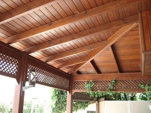 İzmir kış bahçesi tavan ahşap lambri