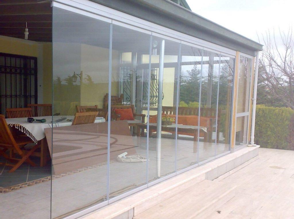 Kış bahçesi cam balkon dikey kapatma