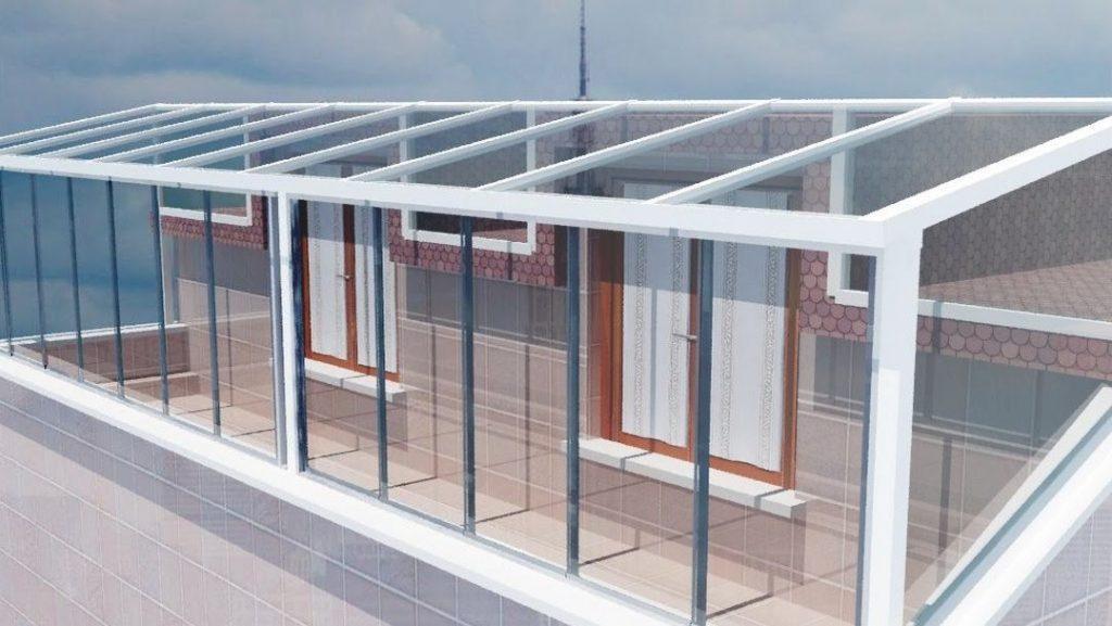 Kış bahçesi cam çatı sistemleri