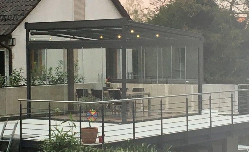 Yarı açık teras kapama kış bahçesi İzmir